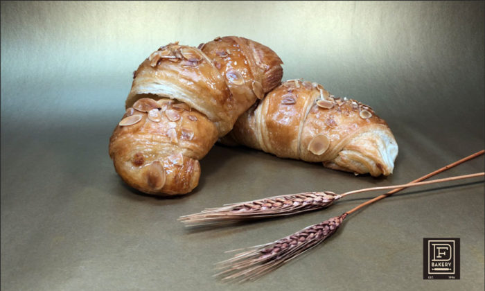 Large Almond Croissant, Filled with Marzipan and Topped with Almonds