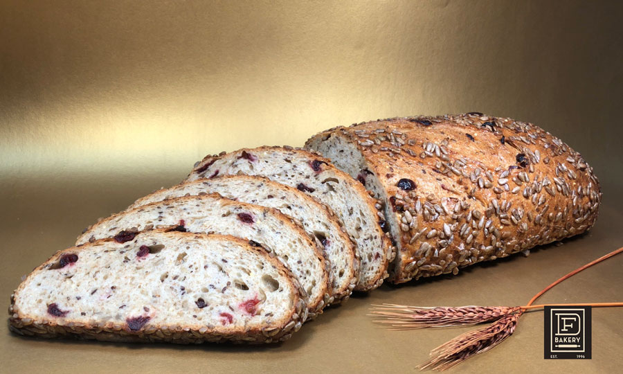 Artisan Multigrain Cranberry Loaf, DF Bakery