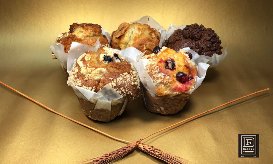 Assorted Muffins from Commercial Bakery, DF Bakery