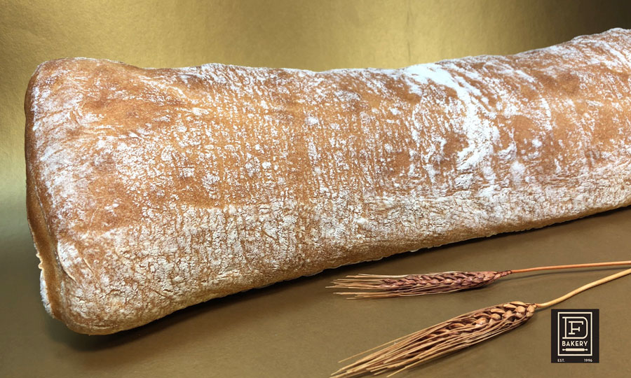 "Ciabatta Bread Loaf, 6"" by 22"""