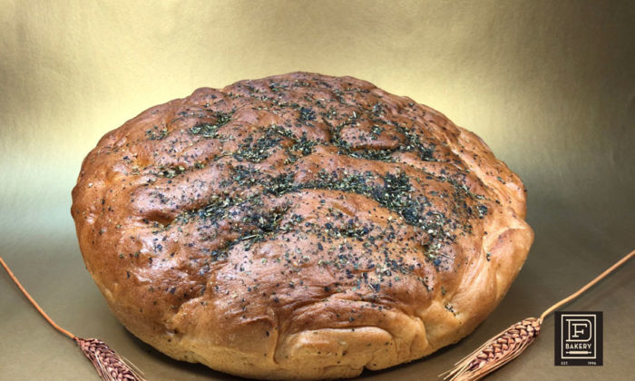 Italian Herbs Topped Focaccia by DF Bakery
