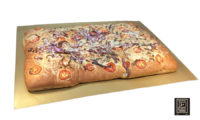 Asiago, Tomato and Red Onion Focaccia, Sheet Pan