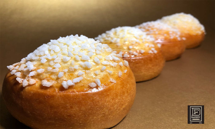 Brioche Rolls topped with Pearl Sugar from DF Bakery